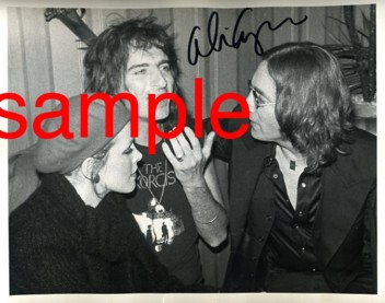 Cindy Lang, Alice Cooper and John Lennon