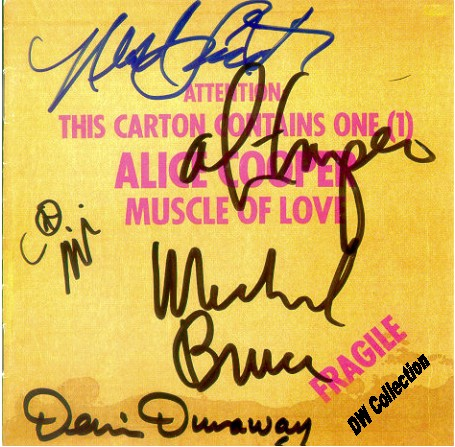 Signed Muscle of Love CD Alice Cooper
