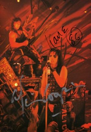 Signed Alice Cooper and Kane Roberts
